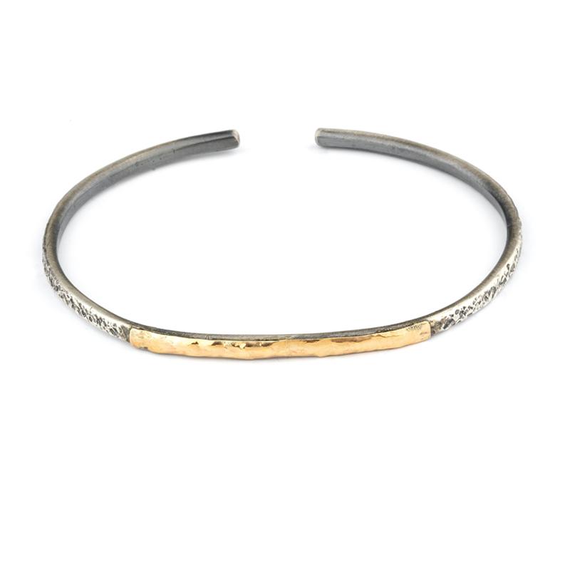99da57a3764c pulsera de hombre de plata y oro