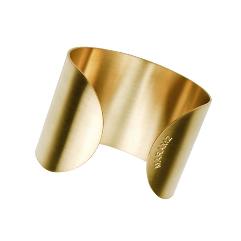 7bda356114b6 brazaletes de acero dorado ancho para mujer